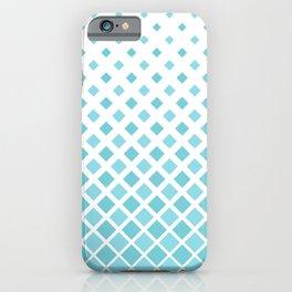 Evaporating Cube Grid - Pastel Light Blue iPhone Case