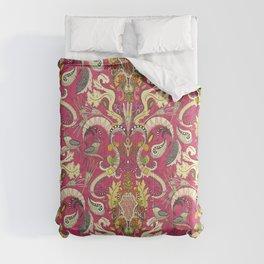 boho rococo pink Comforters