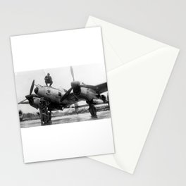 370th Fighter Group P 38 Texas Jewell II Stationery Cards