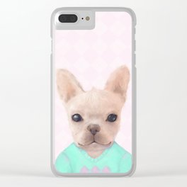 Portrait Of French Bull Dog Clear iPhone Case