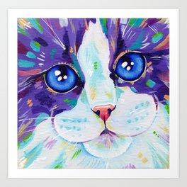 Cats in colour 4 Art Print