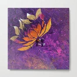 Lotus Fluff Metal Print