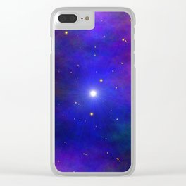 Out Of This World 1 Clear iPhone Case