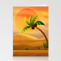 oasis Stationery Cards featuring Oasis by Tatyana Adzhaliyska