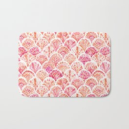 CORAL CAMO Mermaid Watercolor Fish Scales Bath Mat
