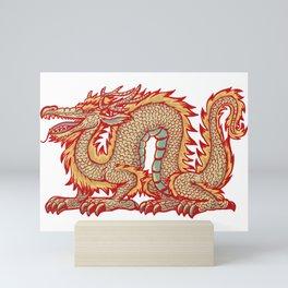 Old China Dragon Mini Art Print