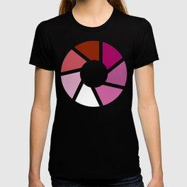 Lesbian Pride Flag Circle T-shirt