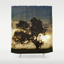 """Monsoon Sunset 2"" by Murray Bolesta Shower Curtain"