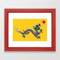 Chinese Dragon - Flag of Qing Dynasty Framed Art Print