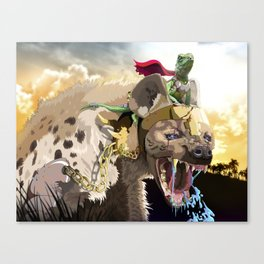 Pet Hyena Canvas Print