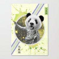 gladiator Canvas Prints featuring Gladiator Panda by Ginger Pigg Art & Design