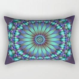 Floral Emblem Rectangular Pillow