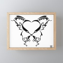 heart drawing Framed Mini Art Print