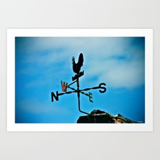North South West East Art Print