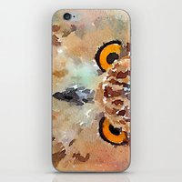 owl iPhone & iPod Skins featuring Owl by contemporary