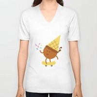 sprinkles V-neck T-shirts featuring Skate & Throw Sprinkles  by seanloring