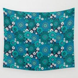 Pushing daisies blues Wall Tapestry