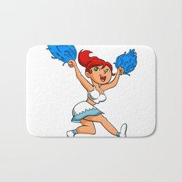Pretty redhead Cheerleader. Bath Mat