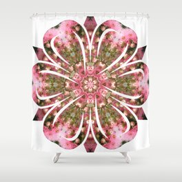Pink Gum Blossom Florii Shower Curtain