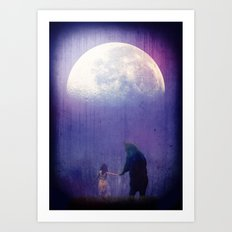 Follow your inner moonlight Art Print