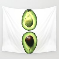 avocado Wall Tapestries featuring Avocado by Sam Luotonen