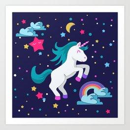 Unicorno Art Print