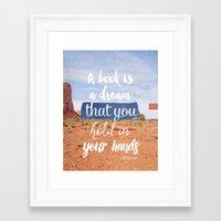 neil gaiman Framed Art Prints featuring Neil Gaiman, quotes, inspirational art, beautiful words B by Roarr