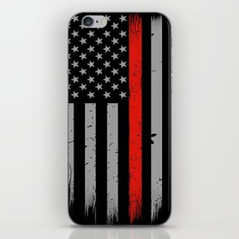 Red Line Firefighter American Flag iPhone Skin