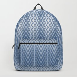 Icy Blue Frosted Relief Columns Backpack