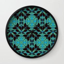 Leaf pattern 1a Wall Clock