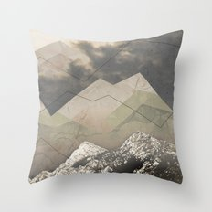 Geometric Sunrise Throw Pillow