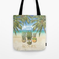relax Tote Bags featuring relax by ulas okuyucu