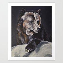 Grizzly Portrait Art Print