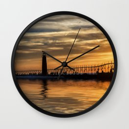 The Pier at Grand Haven Wall Clock