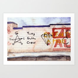 Yung Gutta Crew Art Print