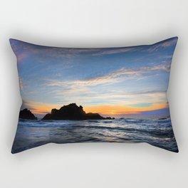 Big Sur sunset Rectangular Pillow