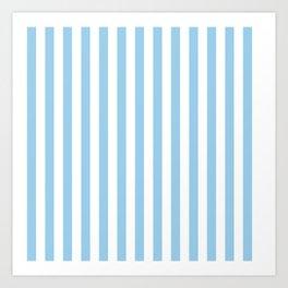 Sky Blue Stripes Art Print