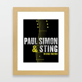PAUL SIMON ON STAGE TOGETHER TOUR DATES 2019 KAMBOJA Framed Art Print