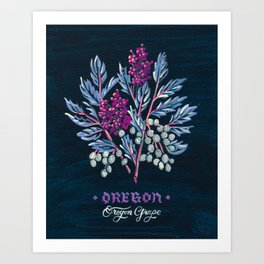 Oregon State Flower Art Print