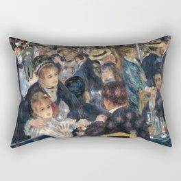 Auguste Renoir -Bal du moulin de la galette, Dance at Le moulin de la Galette Rectangular Pillow