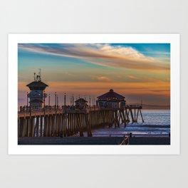 The Pier at Sunset Art Print
