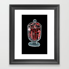 Holiday Candy Jar Framed Art Print