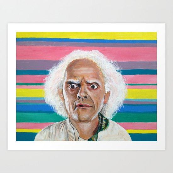 """Great Scott"" Doc Brown Art Print"