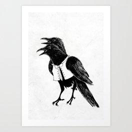Croak a doodle Art Print