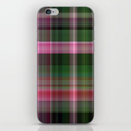 Pink Roses in Anzures 1 Plaid 1 iPhone Skin