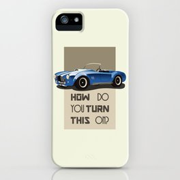 The Classic Game Cheat Code: How do you turn this on Funny Blue Cobra Car iPhone Case