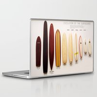 surfboard Laptop & iPad Skins featuring Surfboard Evolution by John Lyman Photos