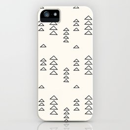 Minimalist Triangle Line Drawing iPhone Case