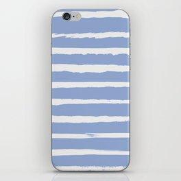 Irregular Hand Painted Stripes Light Blue iPhone Skin