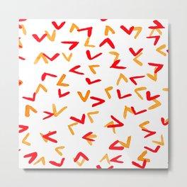 Chicken foot print pattern Metal Print